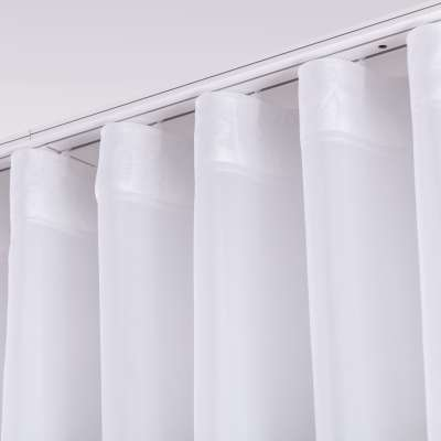 Wave voile curtain 901-00 white/lead hem  Collection Voile