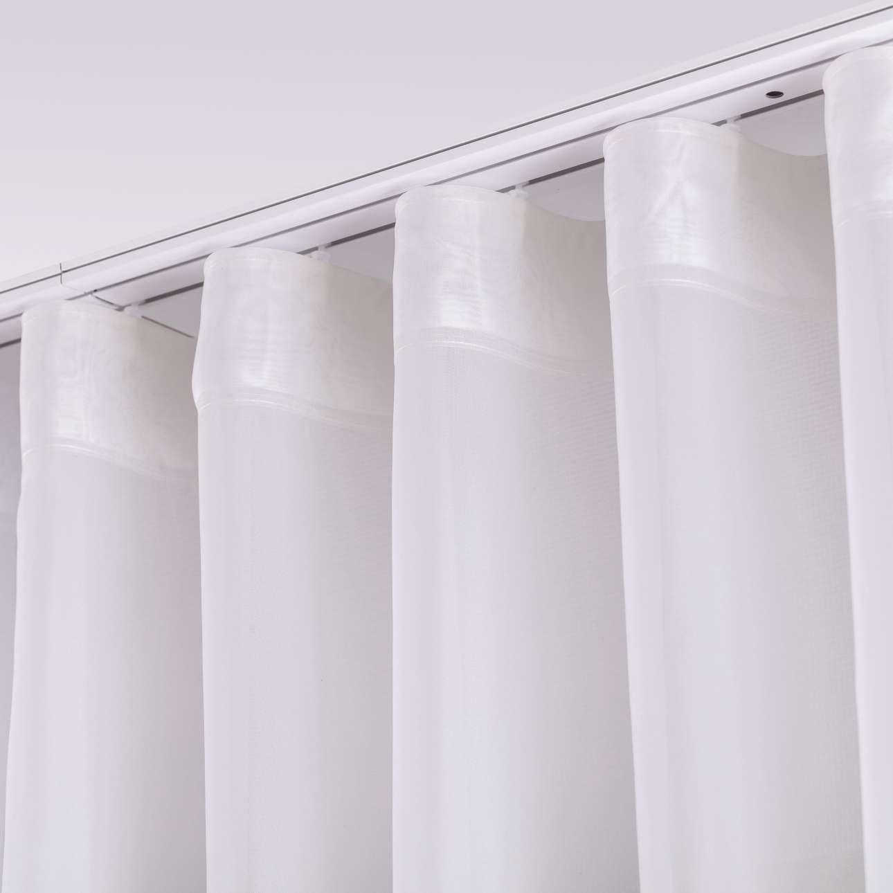 Dekoria Voálová záclona na řasící pásce Wave, ecru s našitým olůvkem, 1szt. 150 x 280cm, Voile - Voál, 901-01