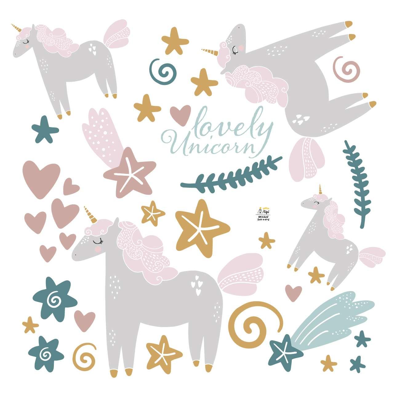 Zestaw naklejek Lovely Unicorn