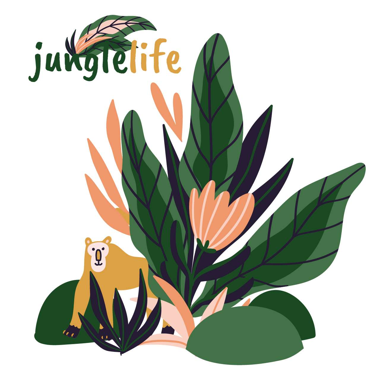 Jungle Life monkey sticker