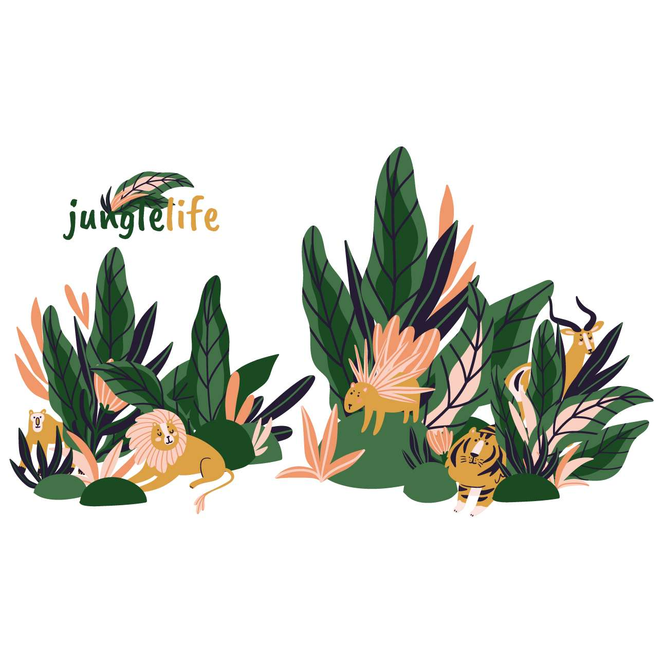 Jungle Life sticker set