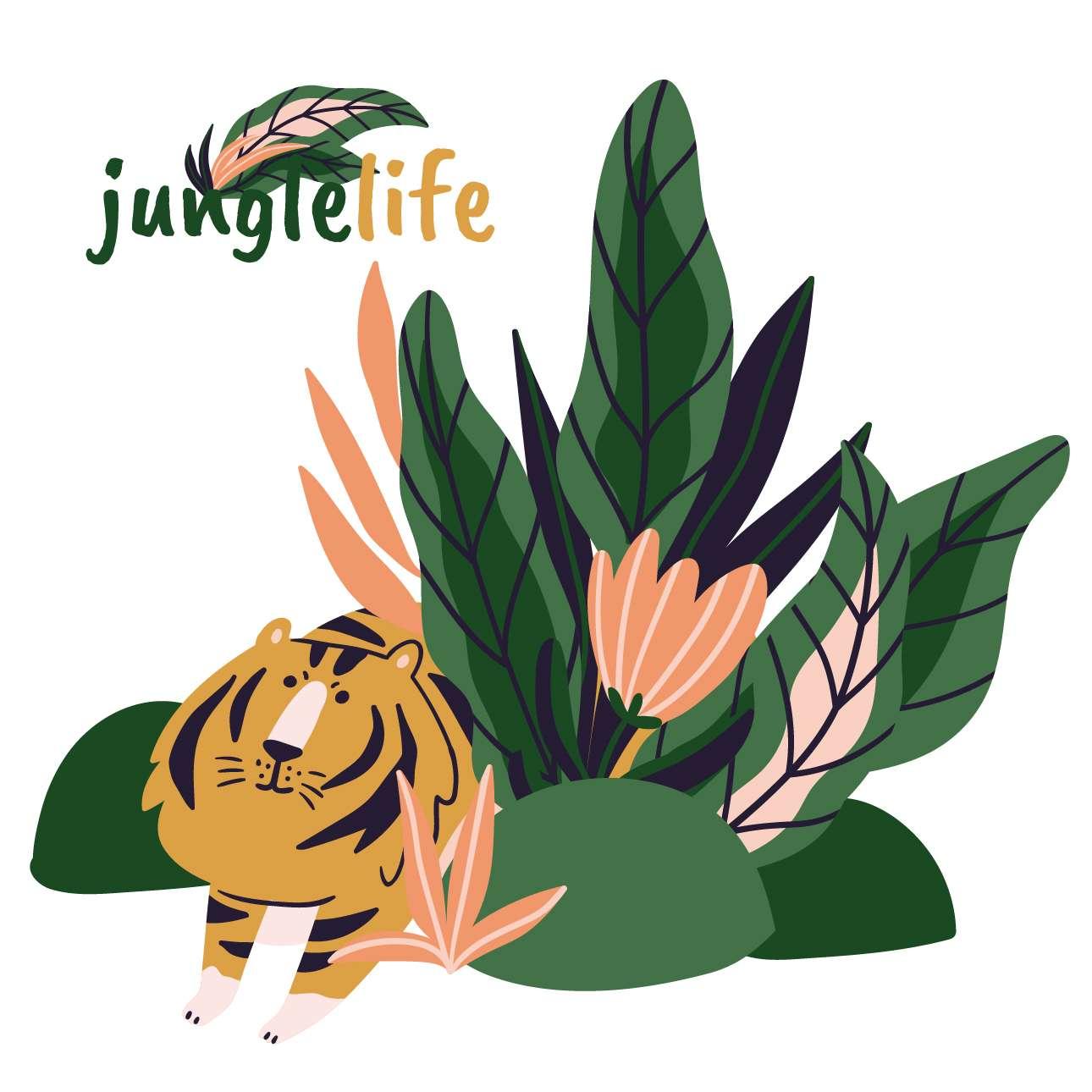 Jungle Life lion - der Aufkleber hinter das Bett