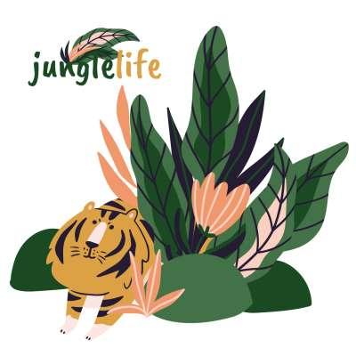 Jungle Life lion - der Aufkleber hinter das Bett Wandsticker - Yellow-tipi.de