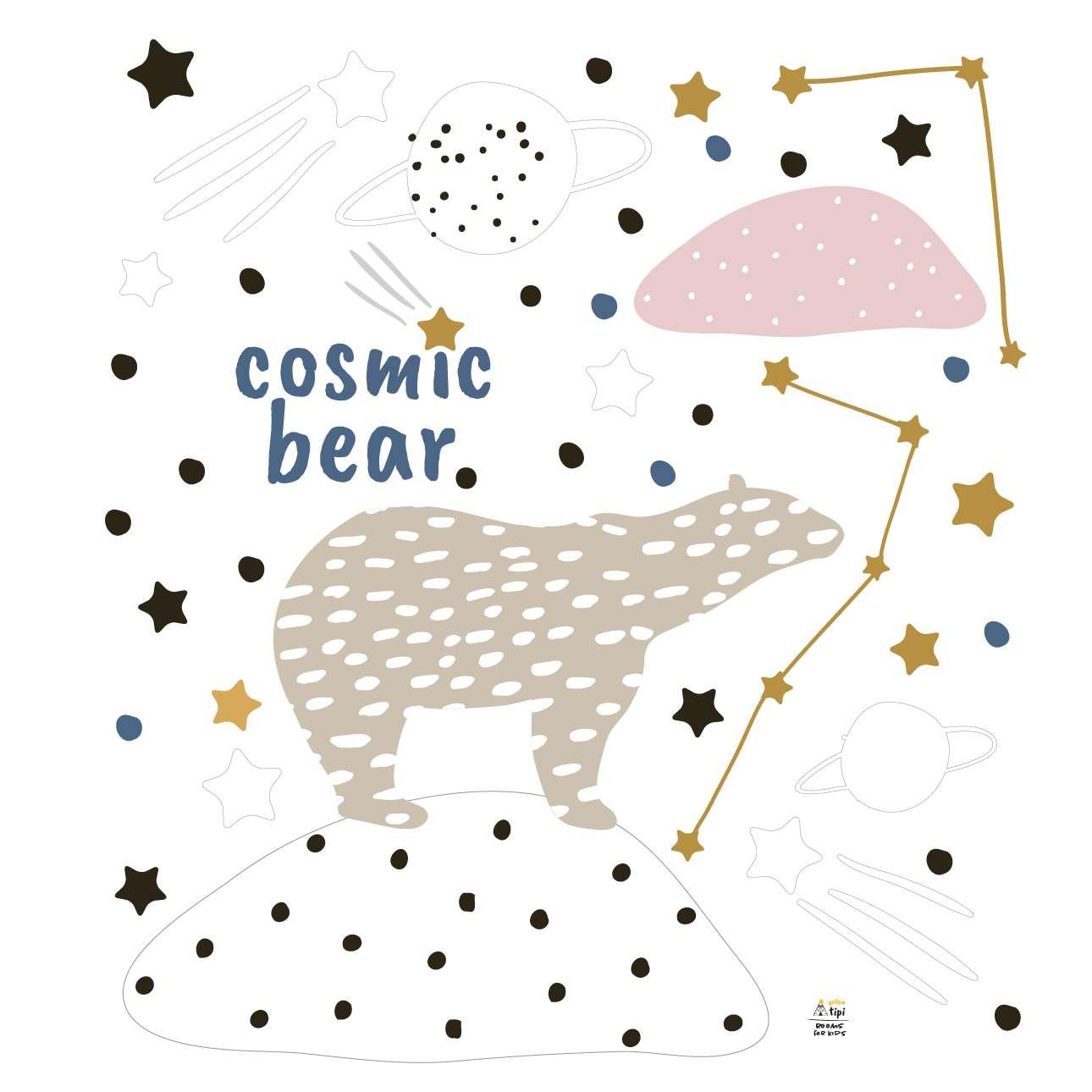 Cosmic Bear sticker set