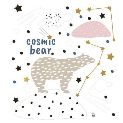 Aufkleber-Set Cosmic Bear Wandsticker - Yellow-tipi.de