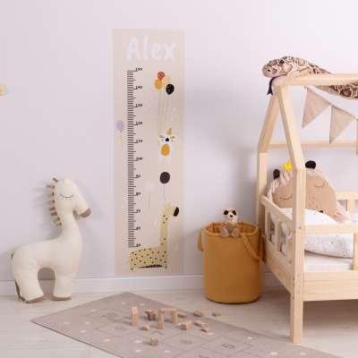 Naklejka personalizowana miarka Zoo Party beige Naklejki dekoracyjne - Yellowtipi.pl