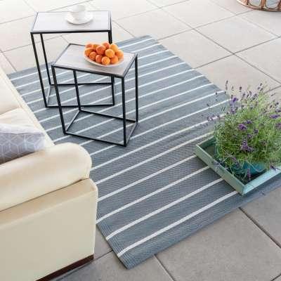Teppich Strips white/gray 120x180cm Teppiche - Dekoria.de
