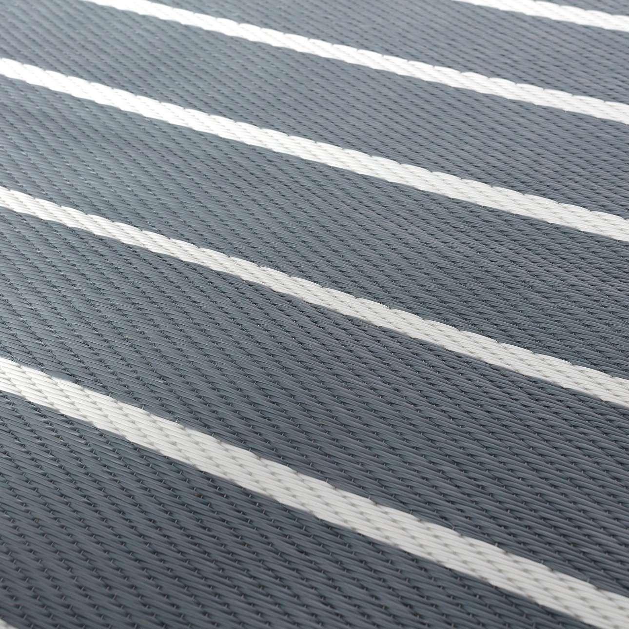 Teppich Strips white/gray 120x180cm