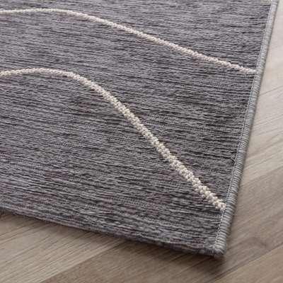Teppich Velvet 160x230cm wool/dark grey Teppiche - Dekoria.de