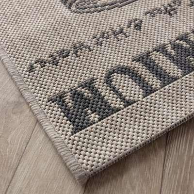 Küchenläufer Lineo sand/antracite 67x200cm Teppiche - Dekoria.de