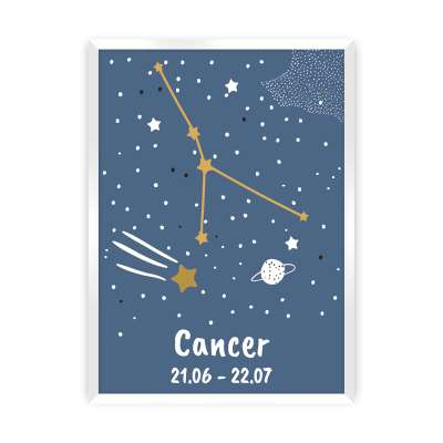 Bild Zodiac Cancer Bilder im Rahmen - Yellow-tipi.de