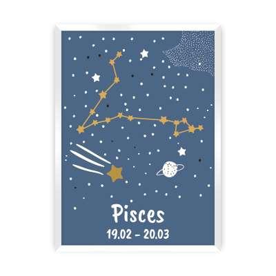 Bild  Zodiac Pisces Bilder im Rahmen - Yellow-tipi.de
