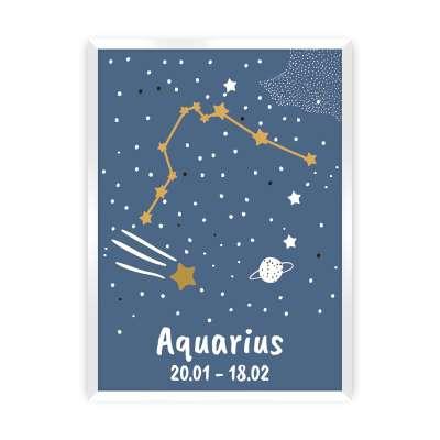 Bild Zodiac Aquarius Bilder im Rahmen - Yellow-tipi.de