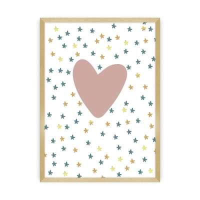 Bild Lovely Unicorn heart Bilder im Rahmen - Yellow-tipi.de