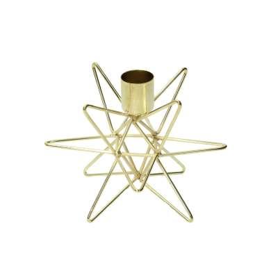 Leuchter Holy Star Gold 10 cm Leuchter und Teelichthalter - Dekoria.de