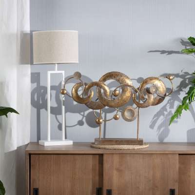 Wanddekoration Golden Orbits 50cm Dekofiguren & Objekte - Dekoria.de
