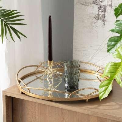 Tablett Gold Mirror 46cm Schalen und Tabletts - Dekoria.de