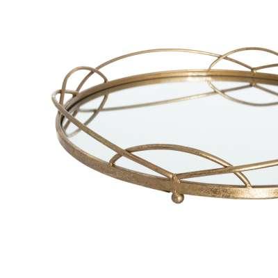 Tablett Gold Mirror 46cm