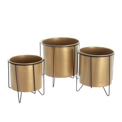Blumenständer im Set Wiggo black/gold - 3 Stck.