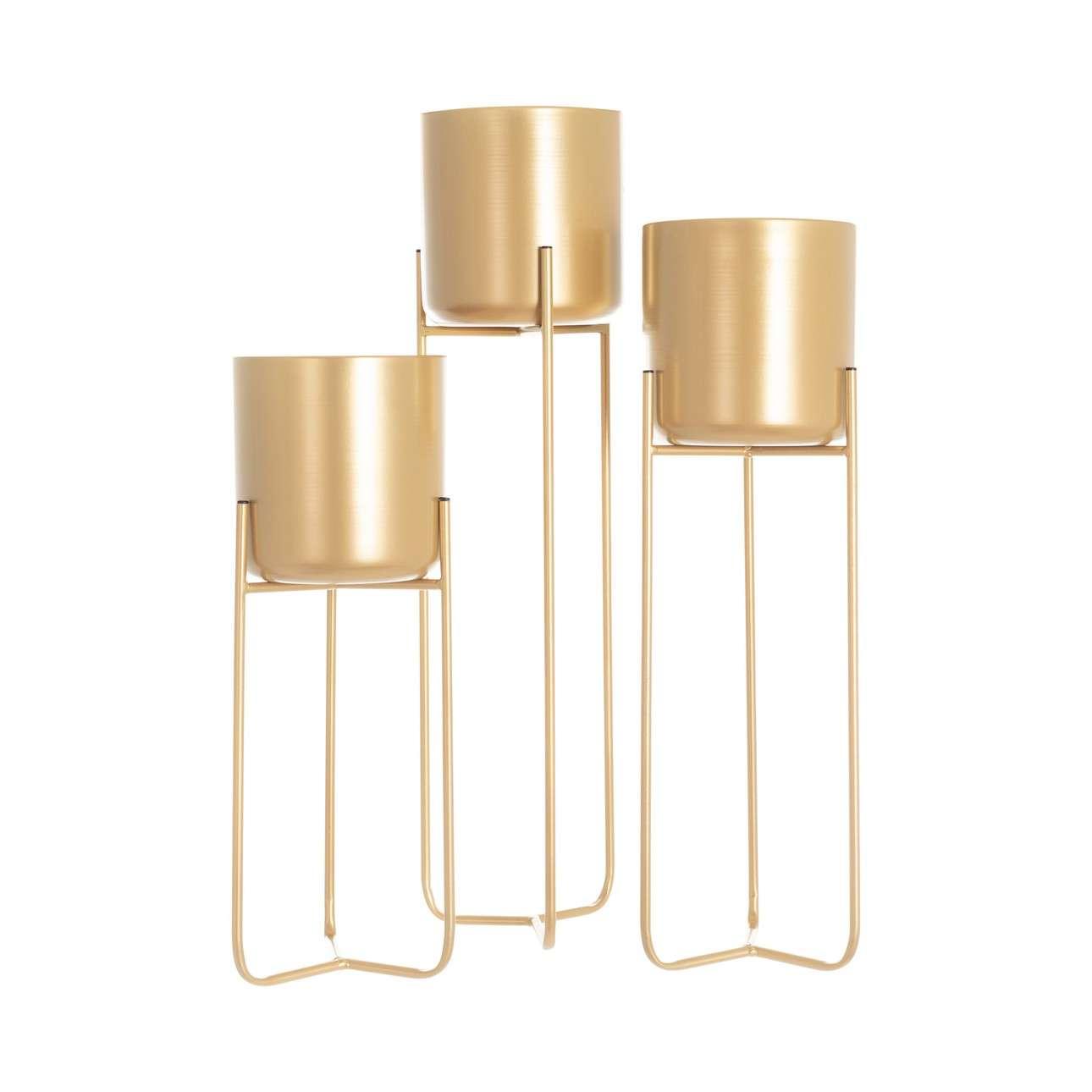 Blumenständer im Set Wiggo gold - 3 Stck.