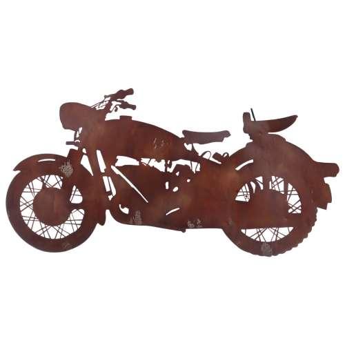 Wanddekoration Rust Motorbike