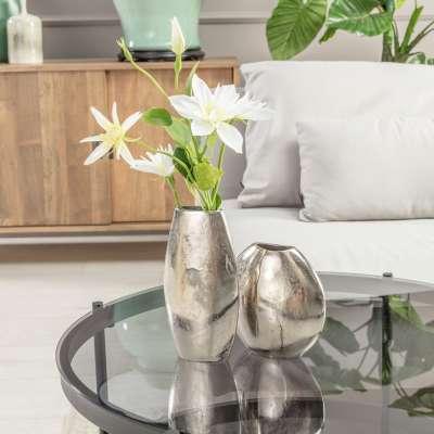 Vase Silver Round 17cm