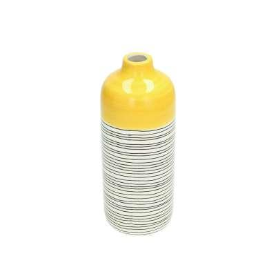 Vase Fresh Lemon 19cm lines