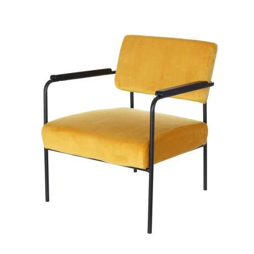 Fotel Muna Velvet mustard