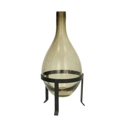 Vase Smoky Drop ⌀13cm Wohnaccessoires - Dekoria.de
