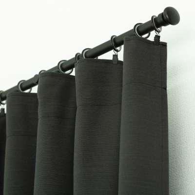 Ready-made curtain BASIC with pleating tape 140x280cm anthrazit Ready made curtains BASIC - Dekoria.co.uk