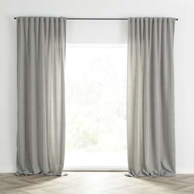 Ready-made curtain BASIC with pleating tape 140x280cm grey melange Ready made curtains BASIC - Dekoria.co.uk