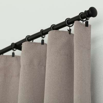 Ready-made curtain BASIC with pleating tape 140x280cm gray- beige Ready made curtains BASIC - Dekoria.co.uk