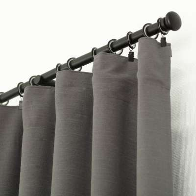 Ready-made curtain BASIC with pleating tape 140x280cm dark grey Ready made curtains BASIC - Dekoria.co.uk