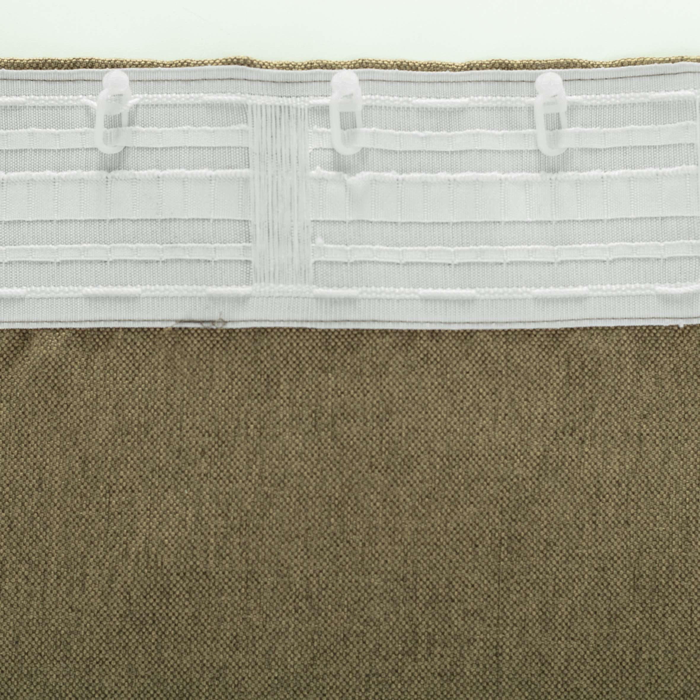 Zasłona BASIC na taśmie marszczącej 140x300cm jasne khaki 1 szt.