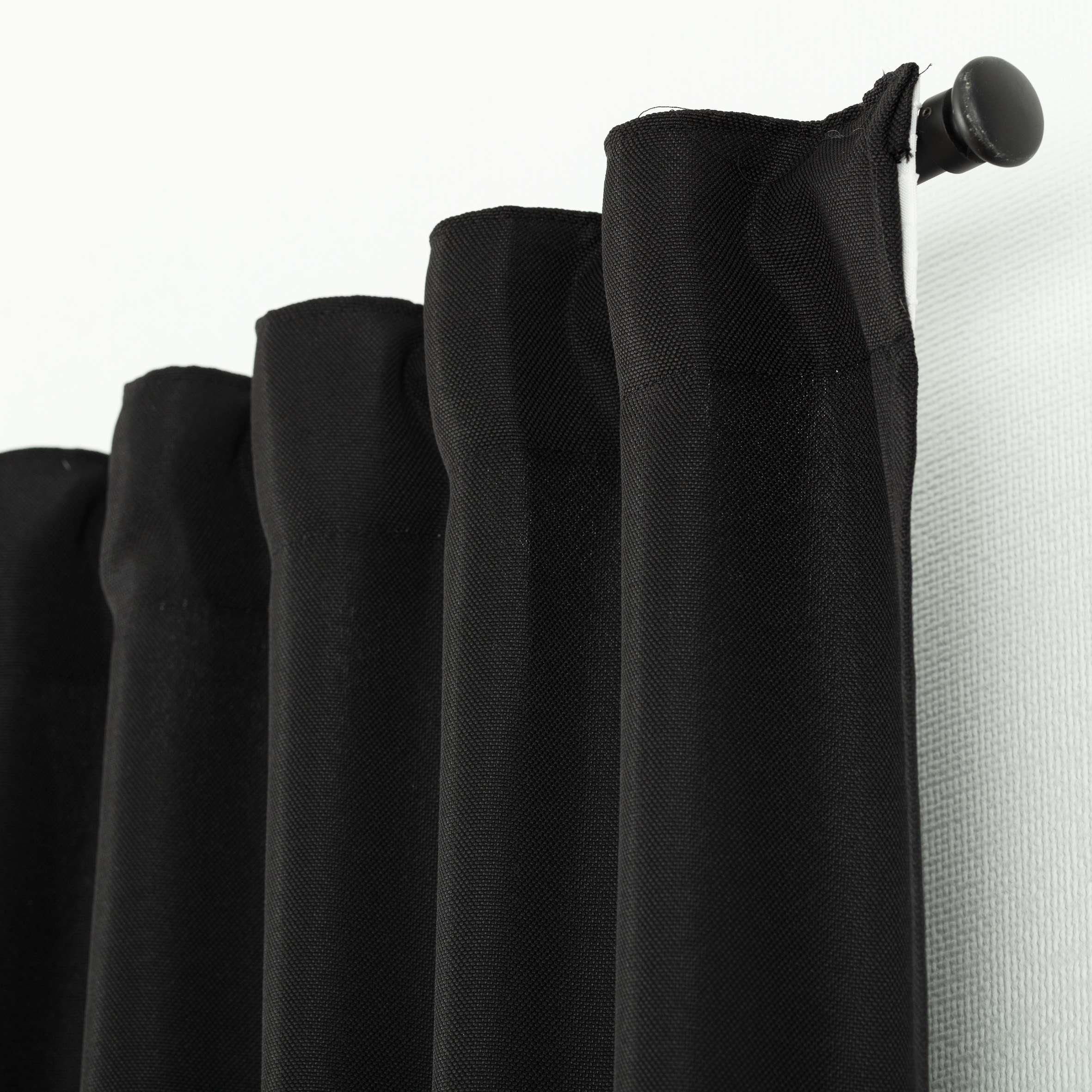 Zasłona BASIC na taśmie marszczącej 140x300cm czarny 1 szt.