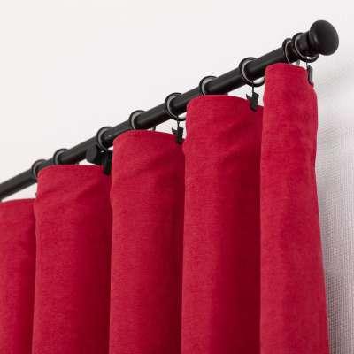 Kant en klaar gordijn BASIC met plooiband 140x260cm, chenille raspberry red Kant en klaar gordijnen BASIC - Dekoria.nl