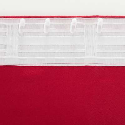 Zasłona BASIC na taśmie marszczącej 140x260cm karmazynowy szenil 1 szt.