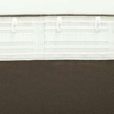 Zasłona BASIC na taśmie marszczącej 140x260cm brązowo - szary szenil 1 szt.