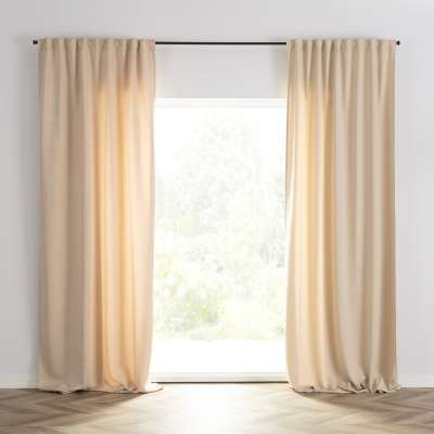 Ready-made curtain BASIC with pleating tape 140x300cm cream Ready made curtains BASIC - Dekoria.co.uk