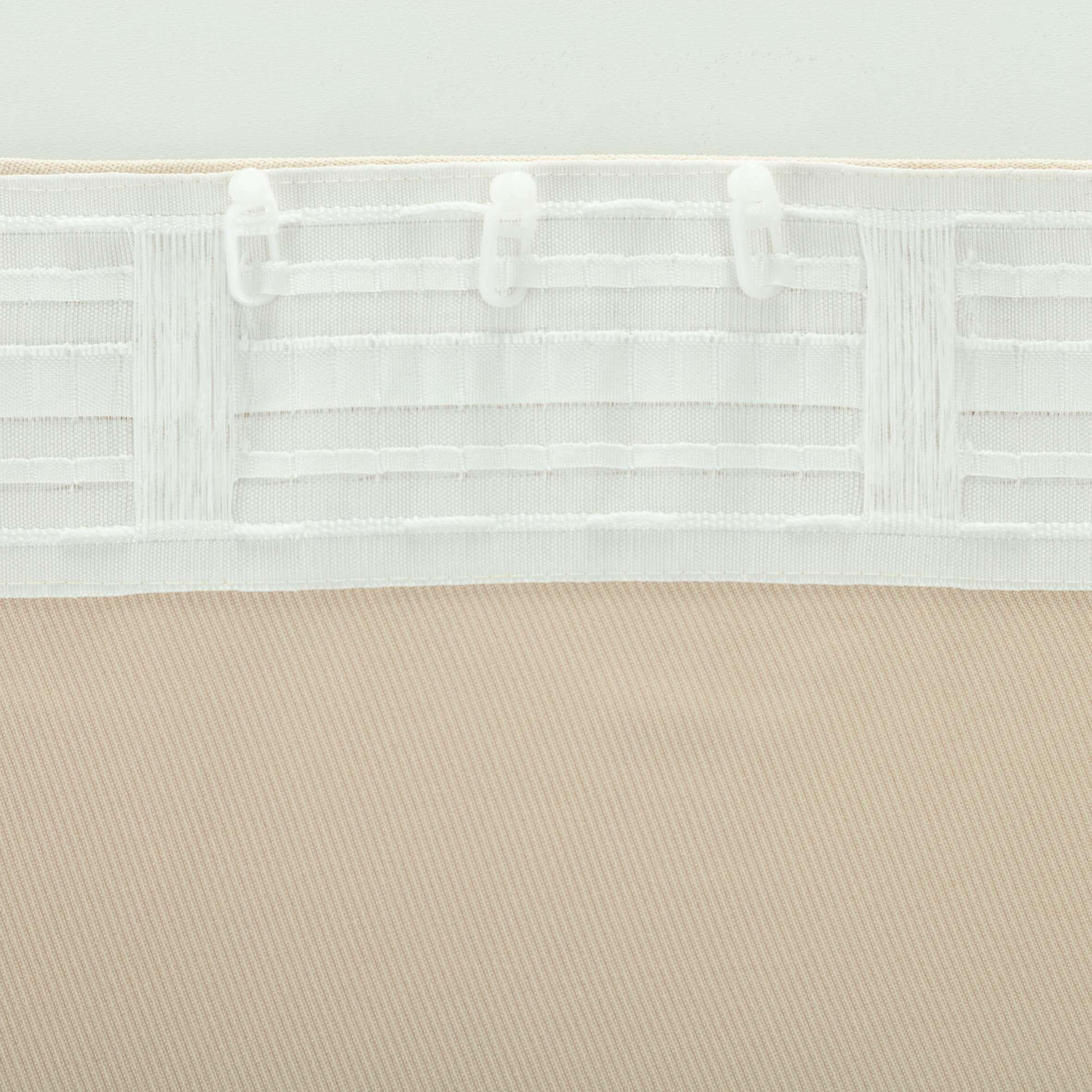 Zasłona BASIC na taśmie marszczącej 140x260cm jasnopiaskowy szenil 1 szt.