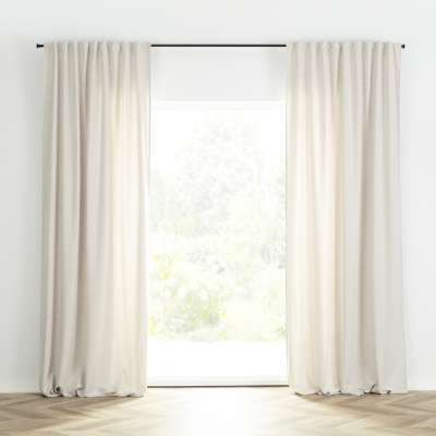 Ready-made curtain BASIC with pleating tape 140x280cm linen Ready made curtains BASIC - Dekoria.co.uk