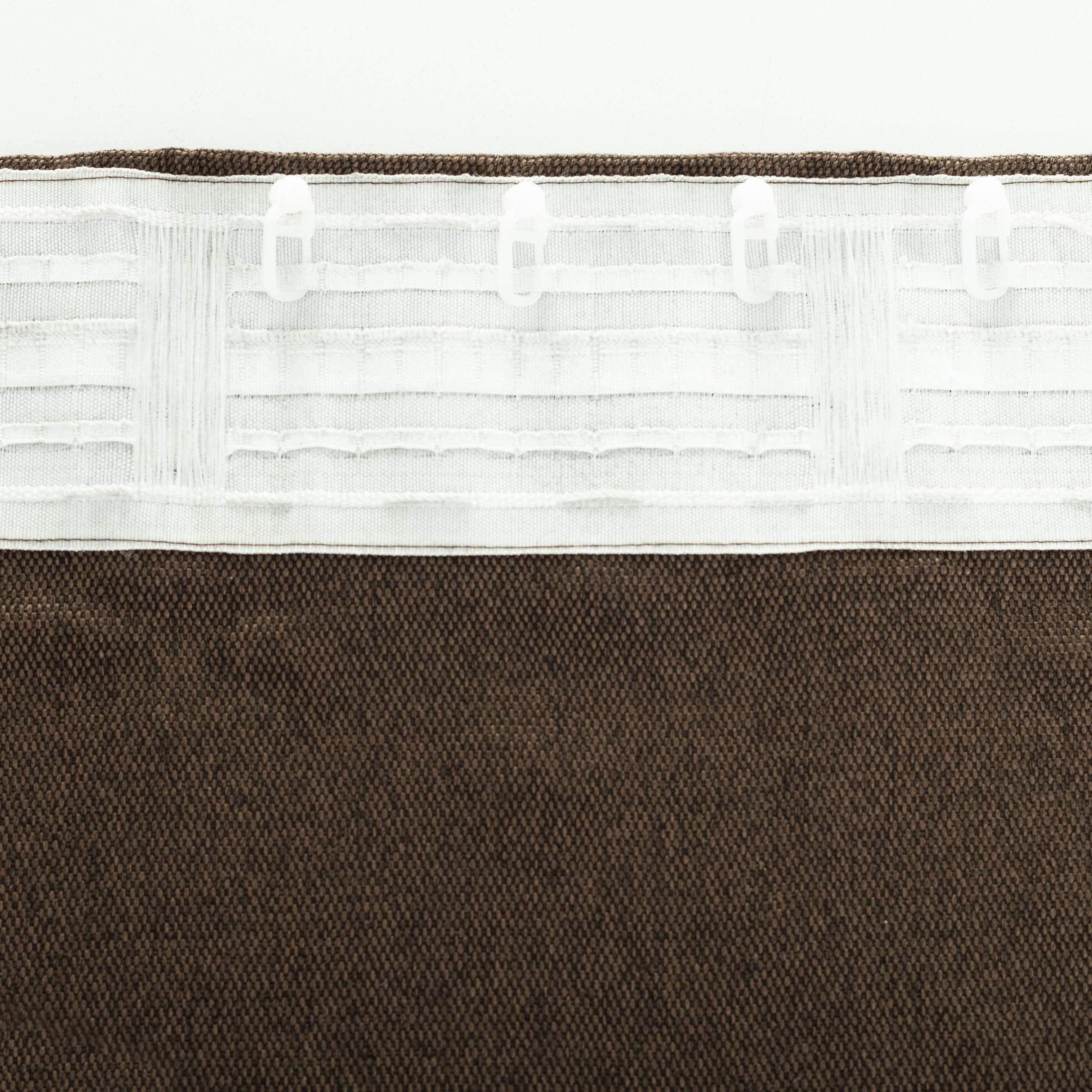 Zasłona BASIC na taśmie marszczącej 140x300cm czekoladowy brąz 1 szt.