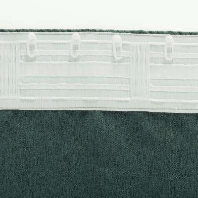 Zasłona BASIC na taśmie marszczącej 140x300cm grafitowy szmaragd 1 szt.