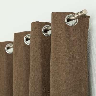Kant en klaar gordijn BASIC met ringen 140x280cm brown Kant en klaar gordijnen BASIC - Dekoria.nl