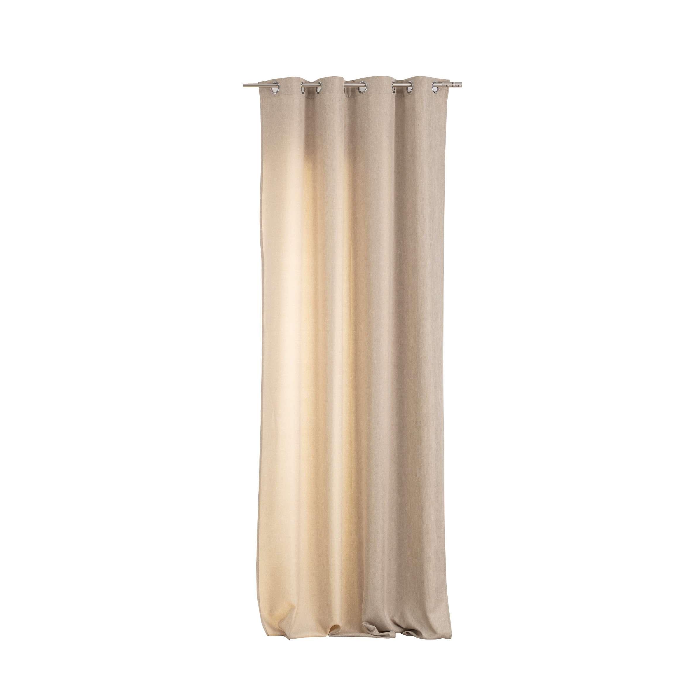 Zasłona BASIC na kółkach 140x280cm piaskowy beż 1 szt.