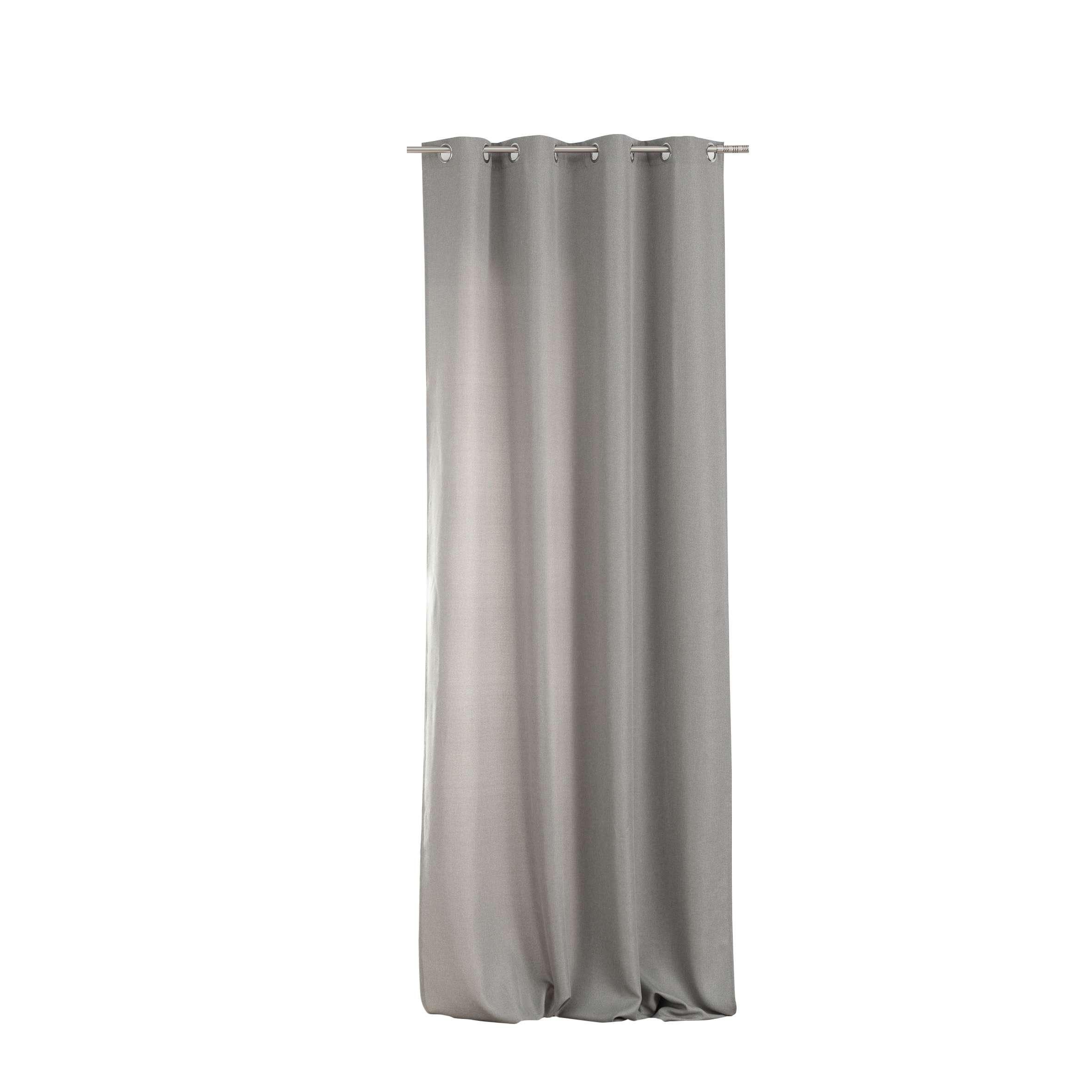 Kant en klaar gordijnen BASIC met ringen 140x280cm light grey