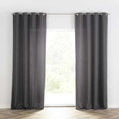 Ready-made curtain BASIC with eyelets 140x280cm dark grey Ready made curtains BASIC - Dekoria.co.uk
