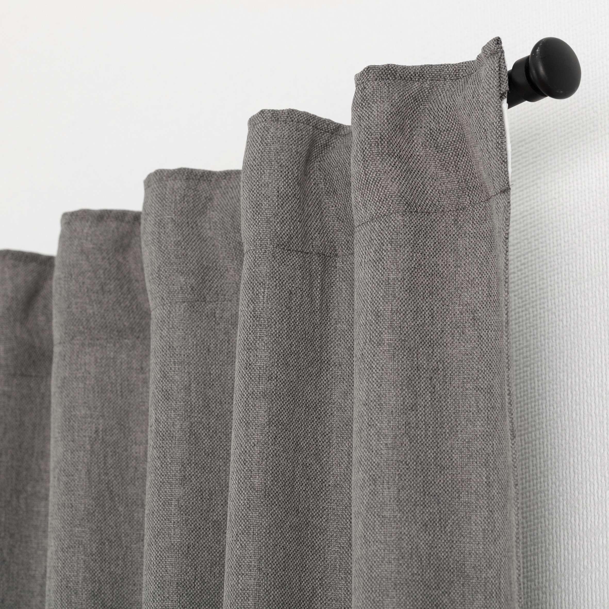 Kant en klaar gordijn BASIC met plooiband 140x300cm, taupe