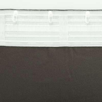 Zasłona BASIC na taśmie marszczącej 140x260cm grafitowy szenil 1szt