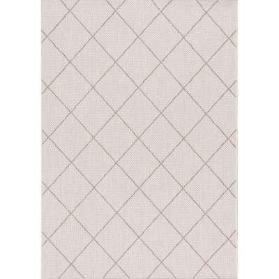 Teppich Lineo Rhombs wool/mink 120x170cm Teppiche - Dekoria.de